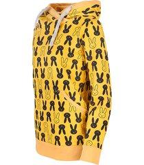 bluza kangurka króliki w musztardzie - unisex