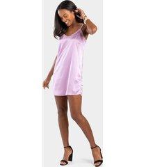 belora lace slip dress - lavender