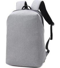 hombres mochila para hombres 15.6 pulgadas portátil mujeres oxford-gris