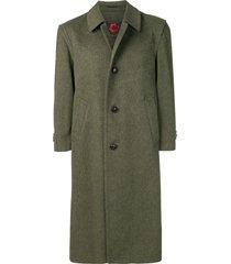 a.n.g.e.l.o. vintage cult 1990 single-breasted midi coat - green