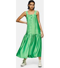 *green drop hem pinafore dress by topshop boutique - green