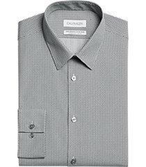 calvin klein wicking extreme slim fit dress shirt onyx pattern