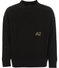 raf simons sweatshirt with embroidery