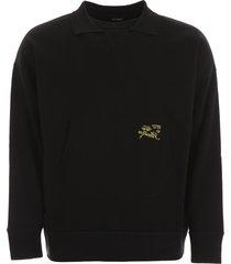 raf simons sweatshirt with embroidery