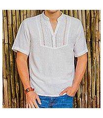 men's cotton tunic, 'soyapango style' (el salvador)