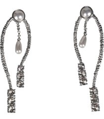 alberta ferretti embellished detail earrings