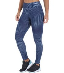 calça legging oxer acqua - feminina - azul esc/azul