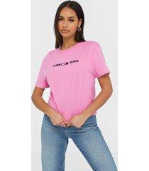 tommy jeans tjw modern linear logo tee t-shirts