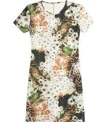 vestido m/c floral color negro, talla 6