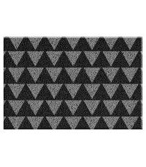 capacho de vinil triangulos preto único love decor