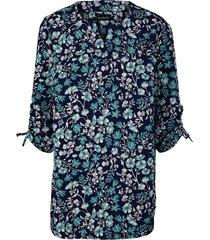 blouse m. collection marine::turquoise::wit