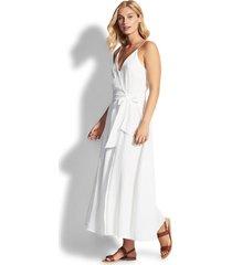 baja double cloth wrap dress