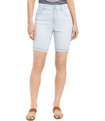 style & co distressed bermuda shorts, created for macy's