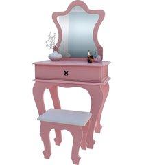 penteadeira baby 7200 luxo rose móveis jb bechara