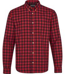 kronstadt johan check overhemd ks2566 red -