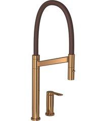 misturador monocomando para cozinha mesa deca colore red gold e bica marrom - 2289.gl.rd.mr - deca - deca