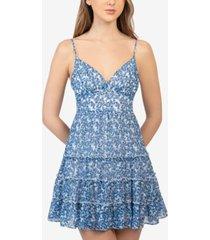 b darlin juniors' floral-print tiered dress