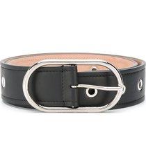 acne studios studded leather belt - black