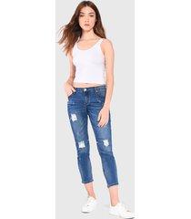 jeans glamorous azul - calce ajustado