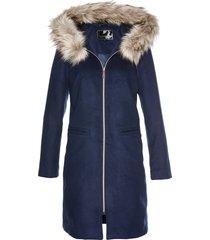 cappotto con collo in ecopelliccia (blu) - bpc selection