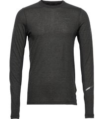 subz ls wool tee m t-shirts long-sleeved svart craft