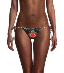 dolce & gabbana women's graphic string bikini bottom - size 2 (s)