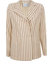 harris wharf london peak lapel striped blazer