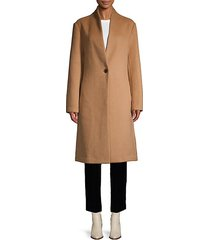 long-sleeve button-front coat