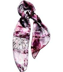 lenço smm acessorios floral vinho