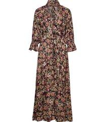 delicate button down gown maxiklänning festklänning multi/mönstrad by ti mo