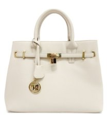 badgley mischka women's medium hand bag with belt buckle lock everyday bag