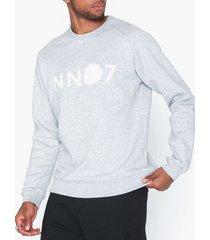 nn.07 robin logo sweat 3385 tröjor light grey