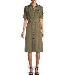 karl lagerfeld paris women's utility dress - moss - size 4