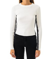 calvin klein t-shirt donna stripe logo sweater j20j214138
