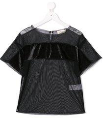 andorine embellished tulle top - black