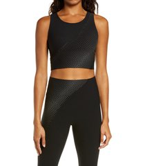 women's spanx every. wear reflective crop top, size small - black