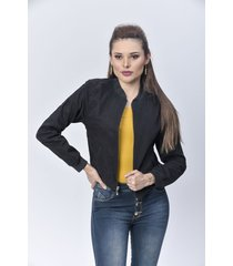 chaqueta bomber dama negro di bello jeans  classic jackets ref c003