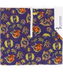 billionaire cowboy print scarf - blue