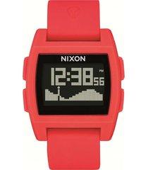 reloj base tide rojo nixon