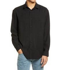 men's bp. solid button-up shirt, size medium - black