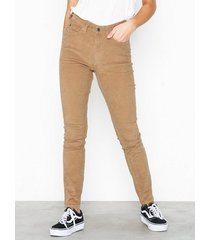 calvin klein jeans high rise skinny corduroy byxor
