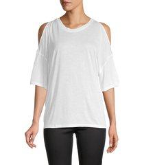iro women's yamba cutout t-shirt - white - size xs