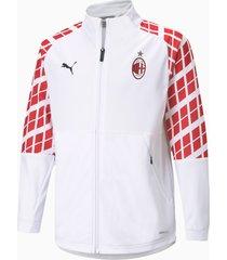 ac milan away stadium voetbaljack, wit/rood, maat 140 | puma