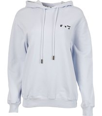 relaxed shape logo hoodie,