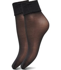 decoy ankle sock silklo 2pk 20 lingerie socks footies/ankle socks svart decoy