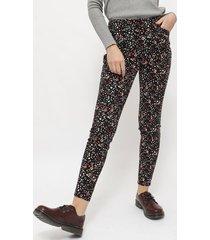 pantalón ash pitillo estampando  negro - calce ajustado