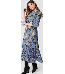 stine goya kirsten maxi dress - blue,multicolor