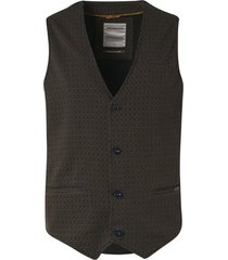 no excess gilet all over printed jersey unlin bronze