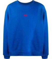 424 logo-embroidered long-sleeved sweatshirt - blue