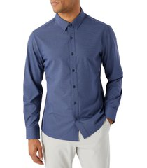 men's 7 diamonds santiago button-up performance shirt, size xx-large - blue